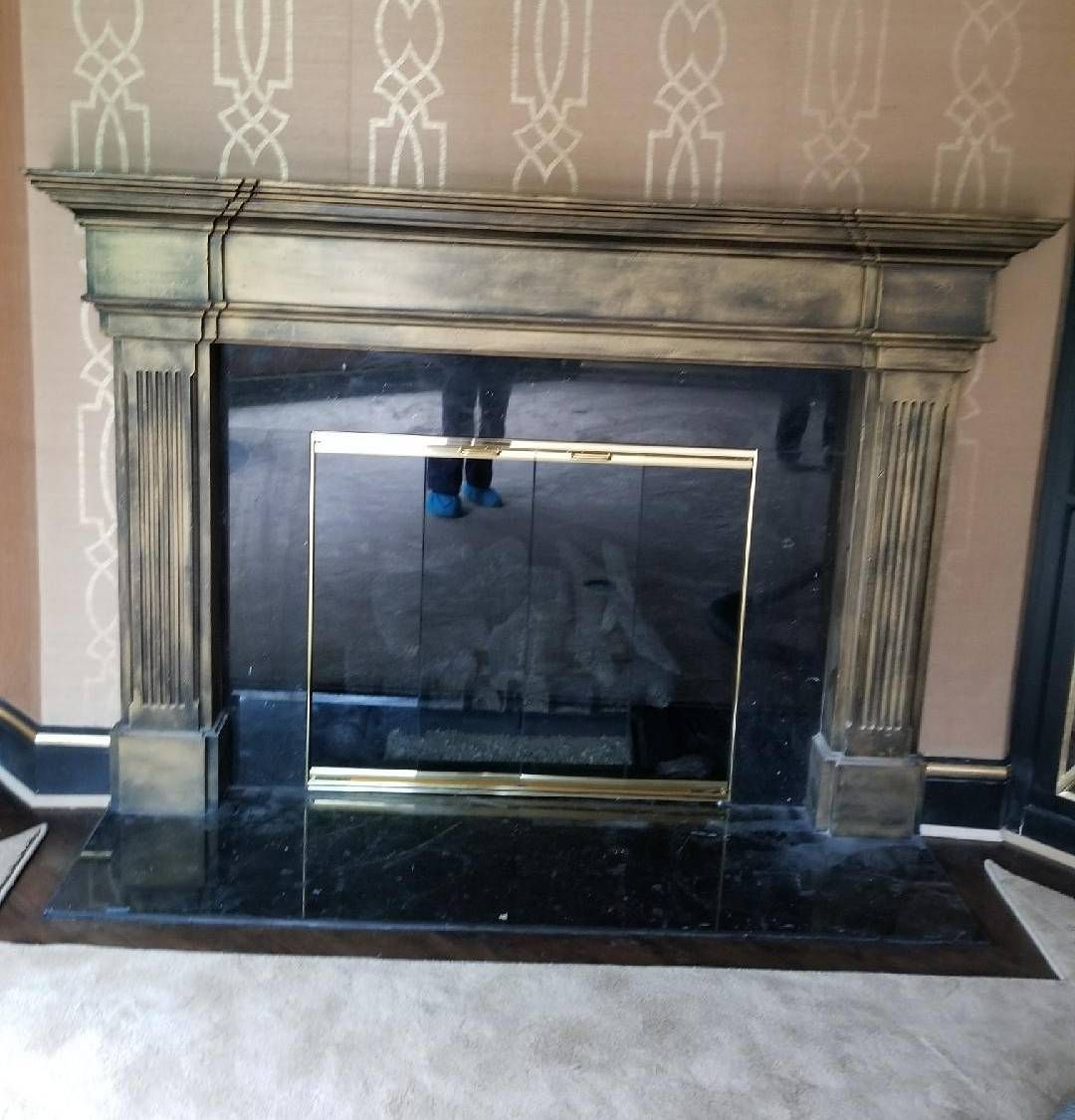 Gas Fireplace With Glass Doors
