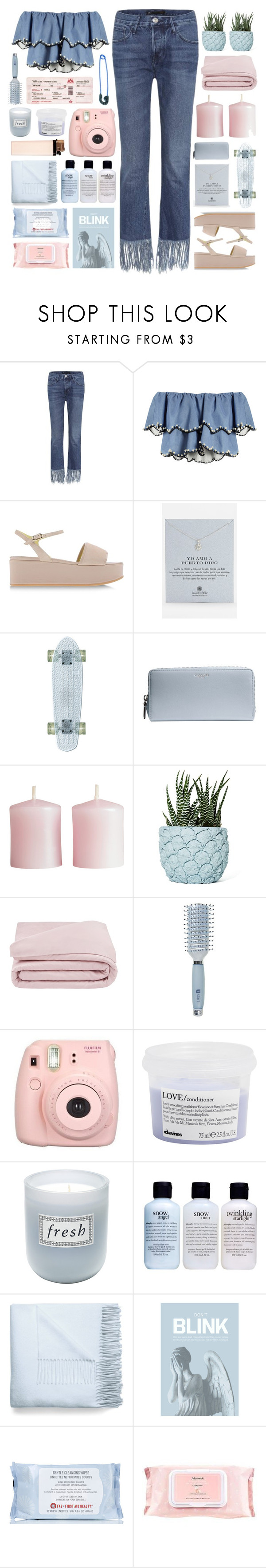 """""""lumielle"""" by cnellepoms ❤ liked on Polyvore featuring 3x1, HUISHAN ZHANG, Pollini, Dogeared, Coach, H&M, Chen Chen & Kai Williams, Frette, Goody and Fujifilm"""