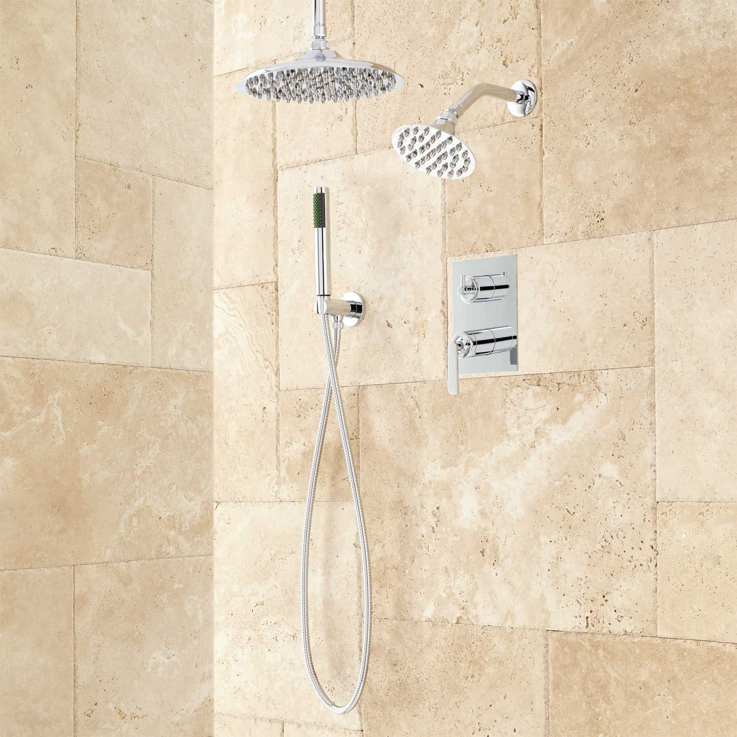 Trimble Dual Shower Head Shower System with Hand Shower | Home Sweet ...
