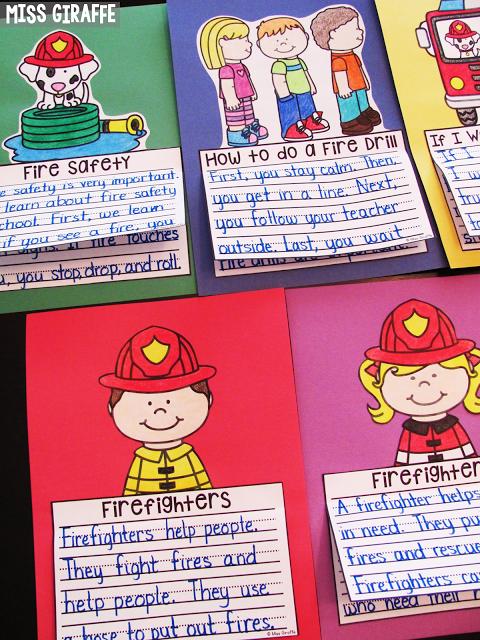 fire safety writing activities preschoolers