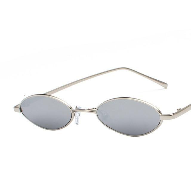 61f282da55 1990s Retro Small Oval Sunglasses Vintage Round Glasses in 2019 ...