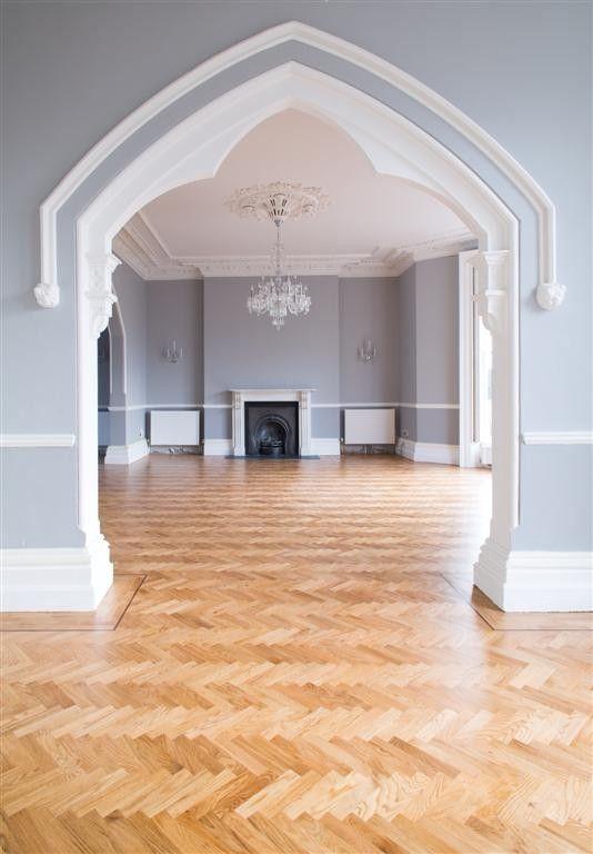 Solid Oak Herringbone Parquet Flooring In A Home In Rathgar Dublin