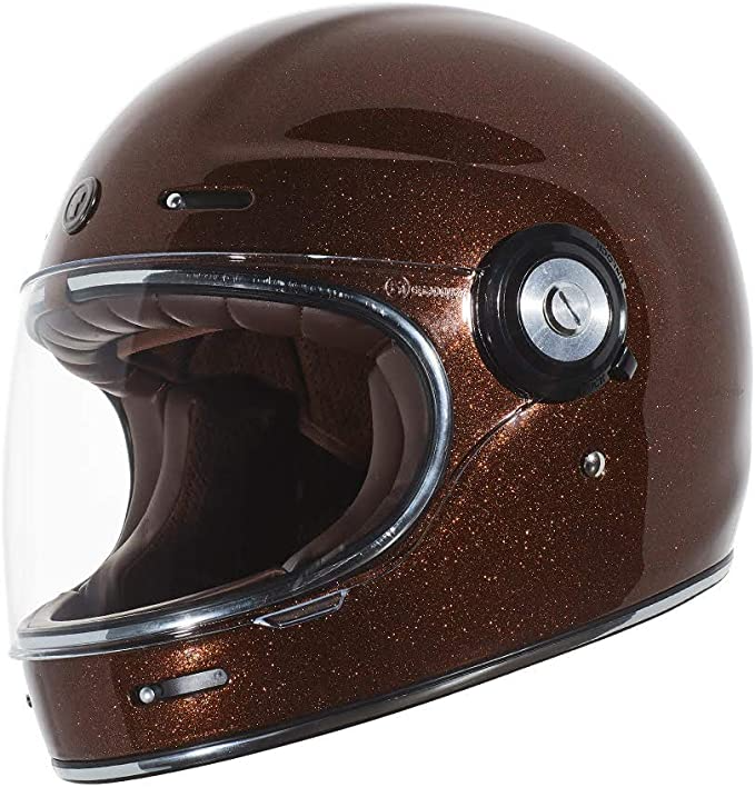 TORC T1 Unisex-Adult Retro Full-face-Helmet-Style Motorcycle Gloss Black, Medium
