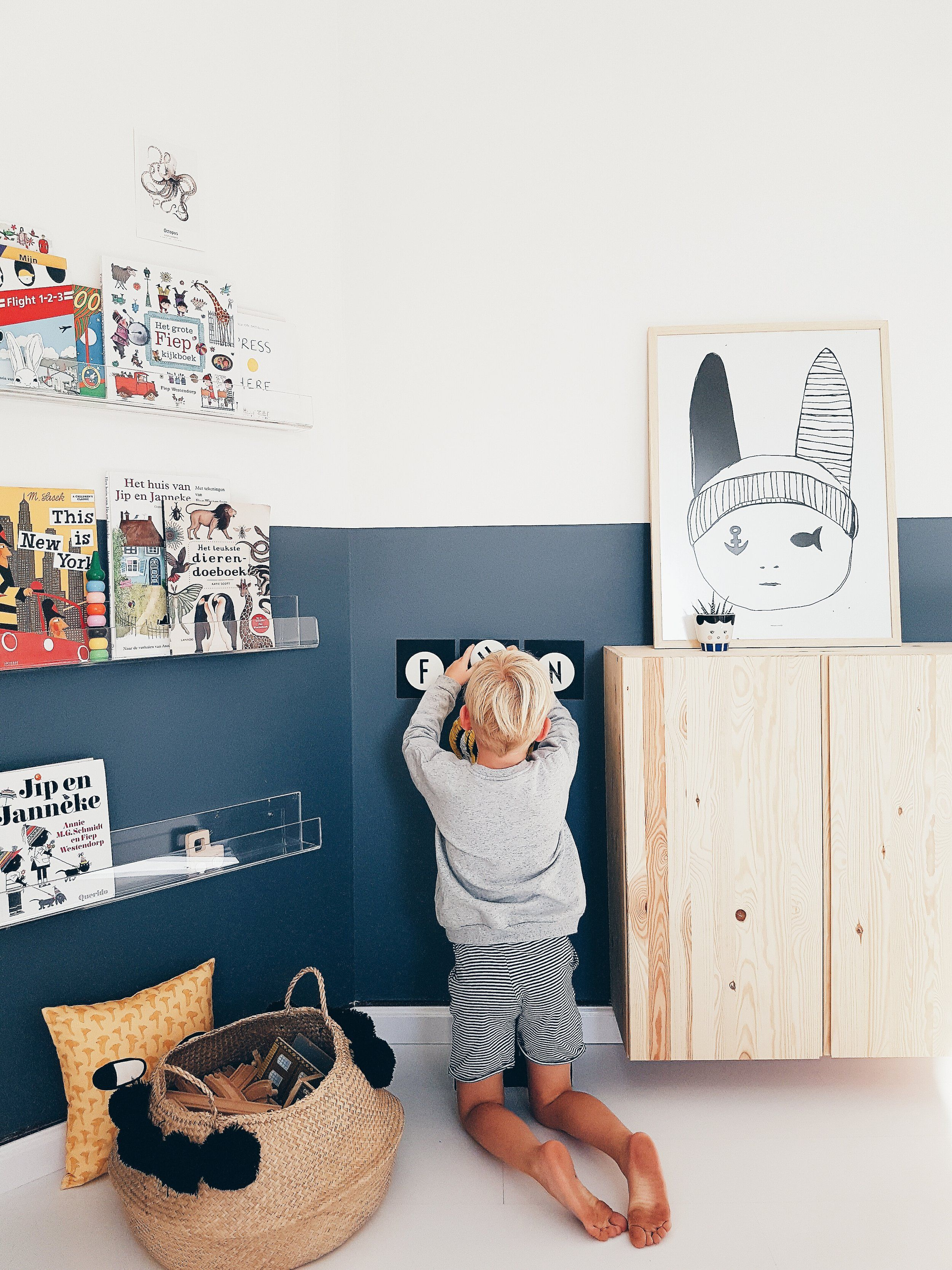 Trend Love The Half Wall Boys Room Wall Color Boy Room Paint