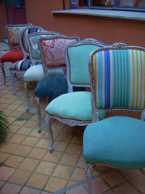 Sillas sillas y sillones sessel polster y tapete blumen - Sillones antiguos restaurados ...