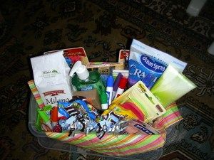 Thoughtful gift basket for the first day of school