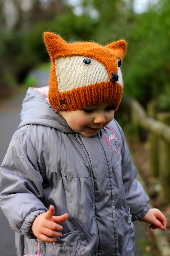 Knitting pattern for Fox or Wolf hat in Adult, Child, and Toddler ...