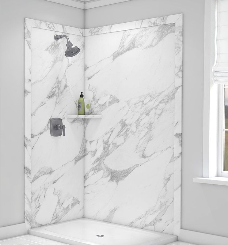 Elegance Shower Surround 80 H X 48 W X 36 D 2 Panel Shower Wall