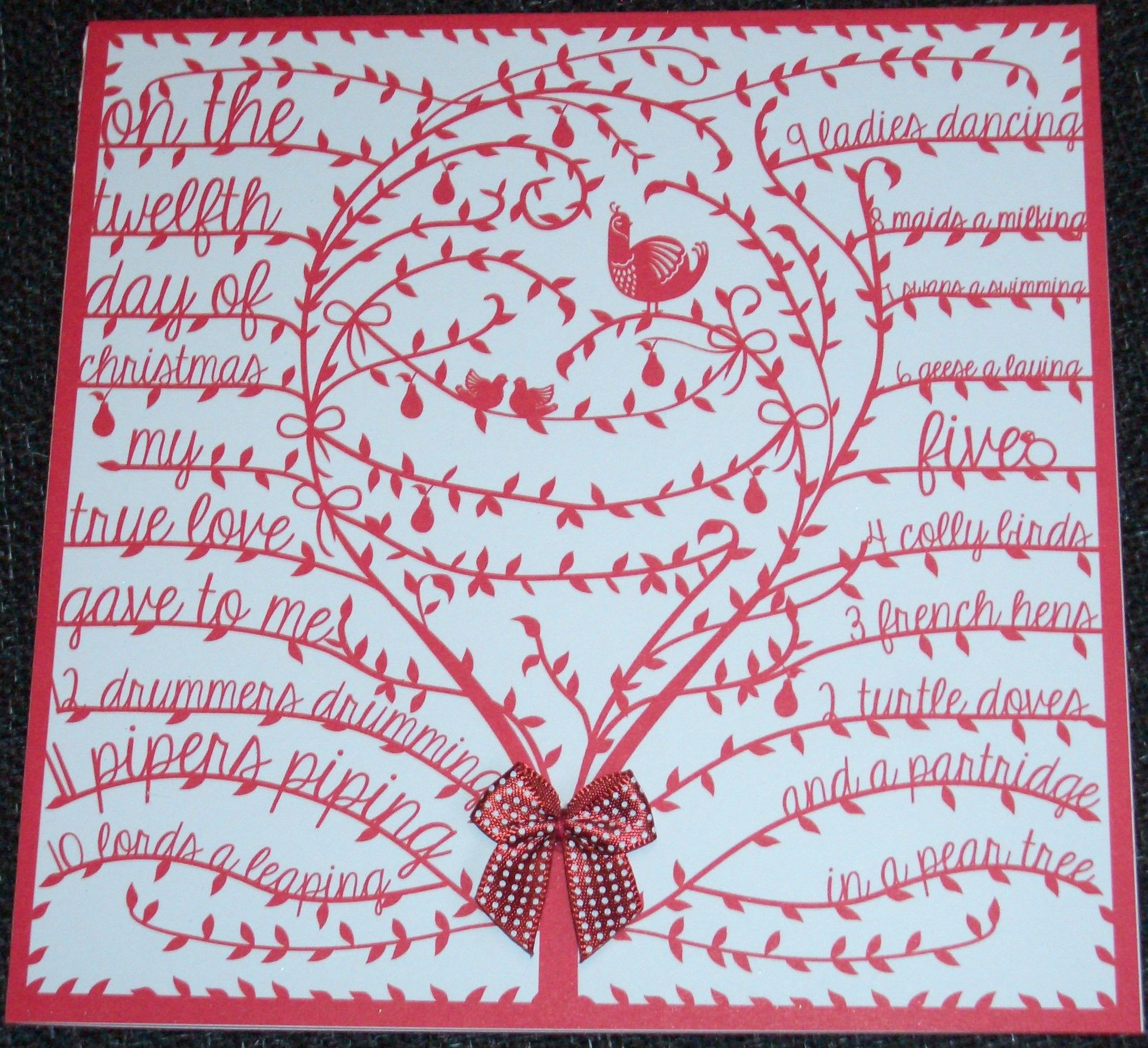Partridge in a Pear Tree Card | Handmade christmas, Twelve days of christmas, Cards