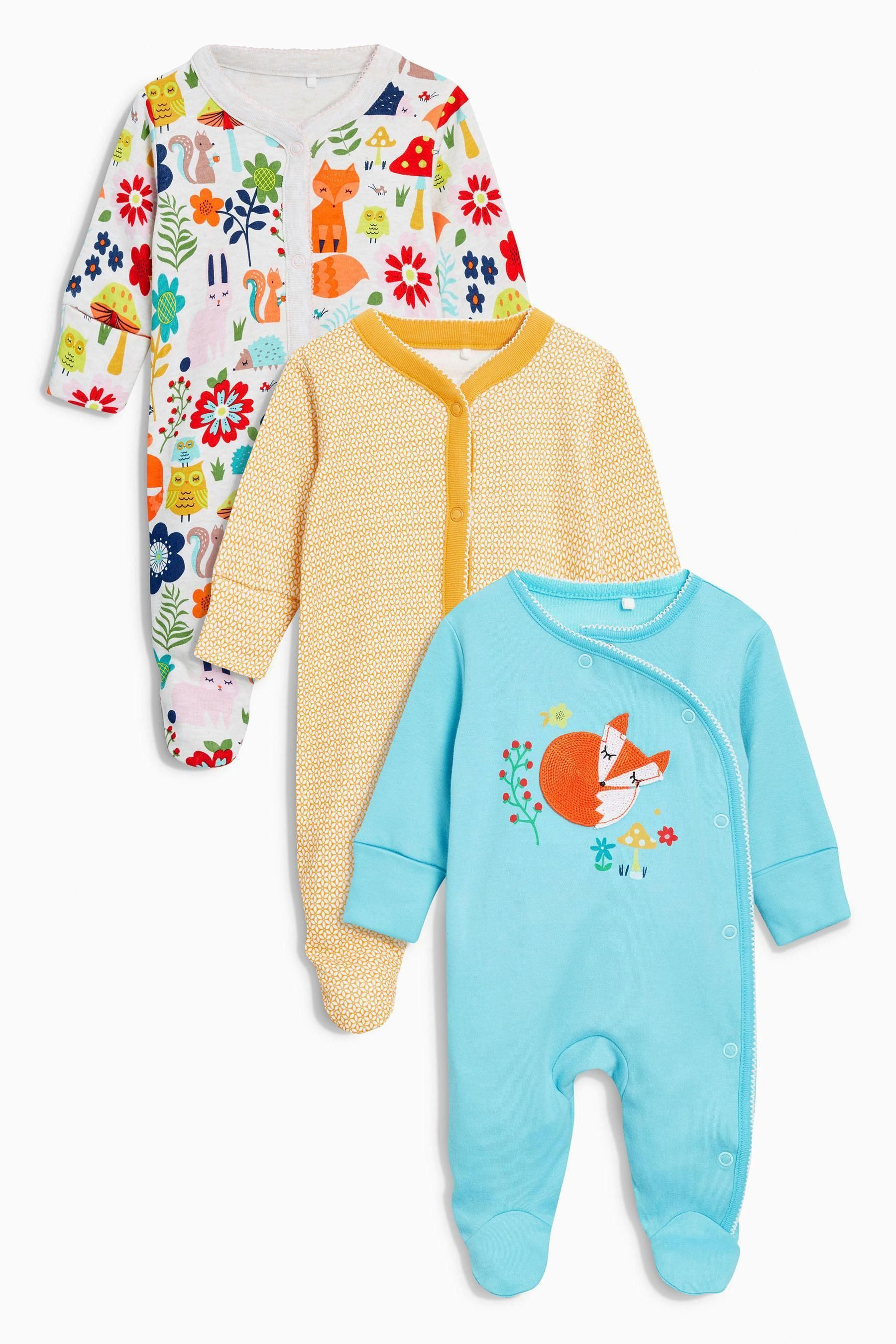 749eb1ca483d Buy Bright Fox Sleepsuits Three Pack (0mths-2yrs) from the Next UK online  shop  FallOutBoyVsFashionShow