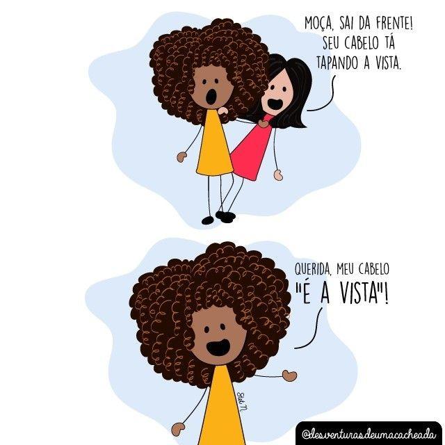 Frases De Cacheadas Tirinhas E Ilustrações Cabelos Cacheados Em