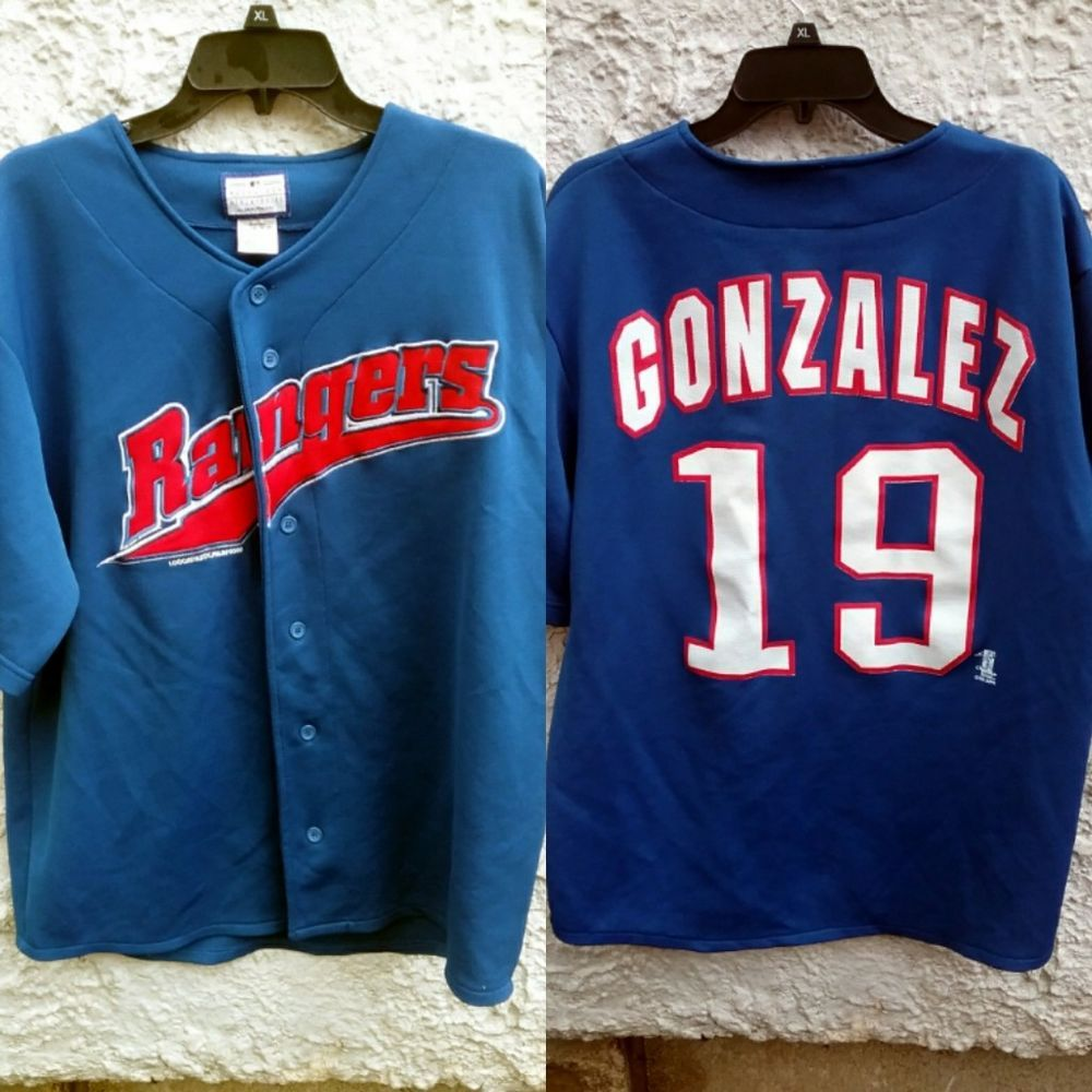 huge discount e84dc 8b28e Juan Gonzalez Texas Rangers Jersey Baseball Men Medium ...