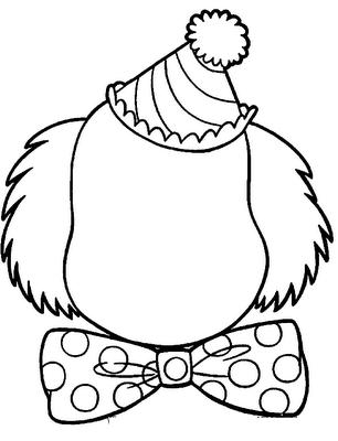 Palyaço Yüzü Boş 1 çizim Ve Düzenlemelerim Templates