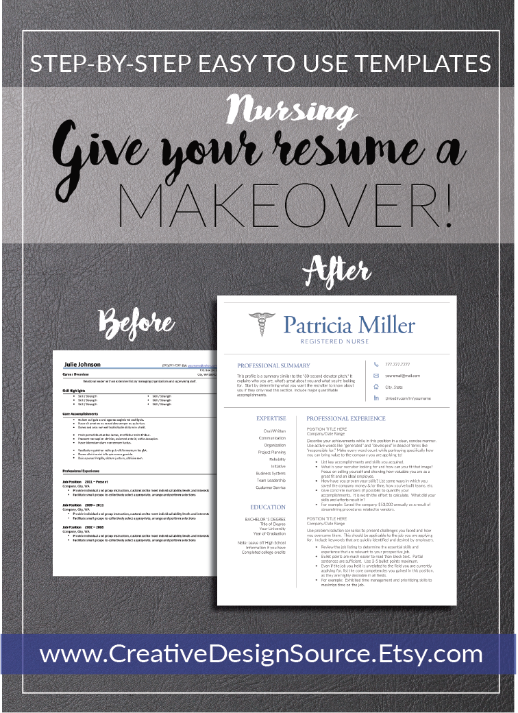 nurse resume templates that make it easy to look good fully customizable professional designed - Make Professional Resume