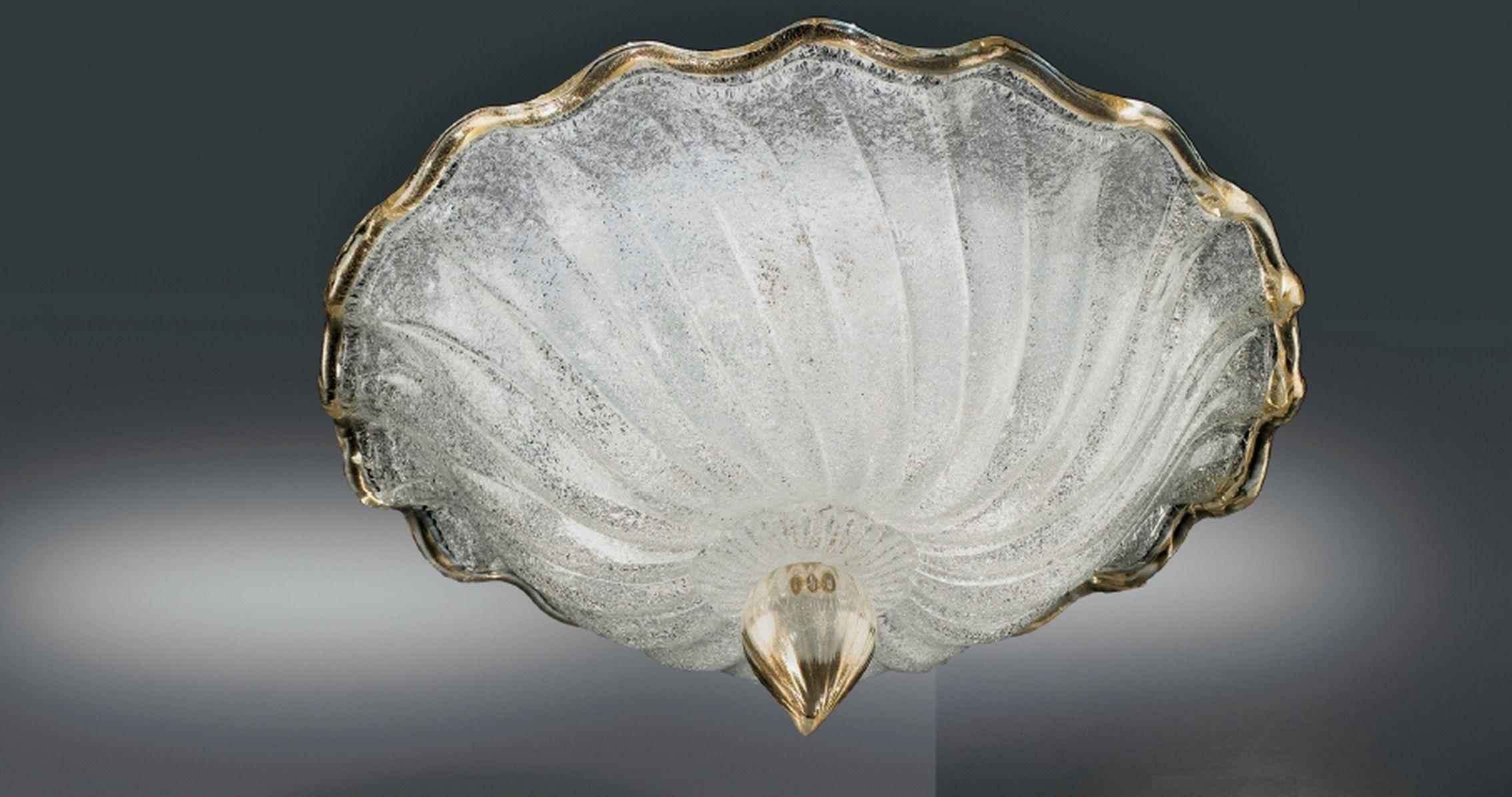 Plafoniere In Vetro Di Murano : Plafoniera 2 luci in vetro di murano 1132 pl35 vetrilamp