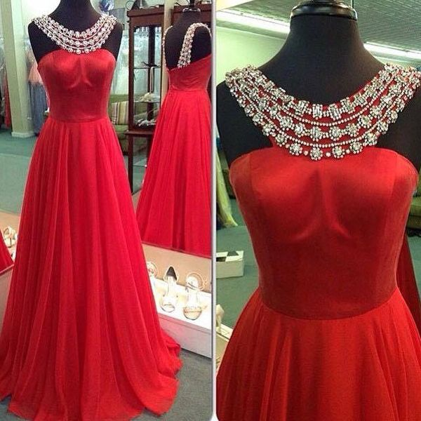 Halter Beaded Red Prom Dresses Graduation Party | nicole:)prom ...