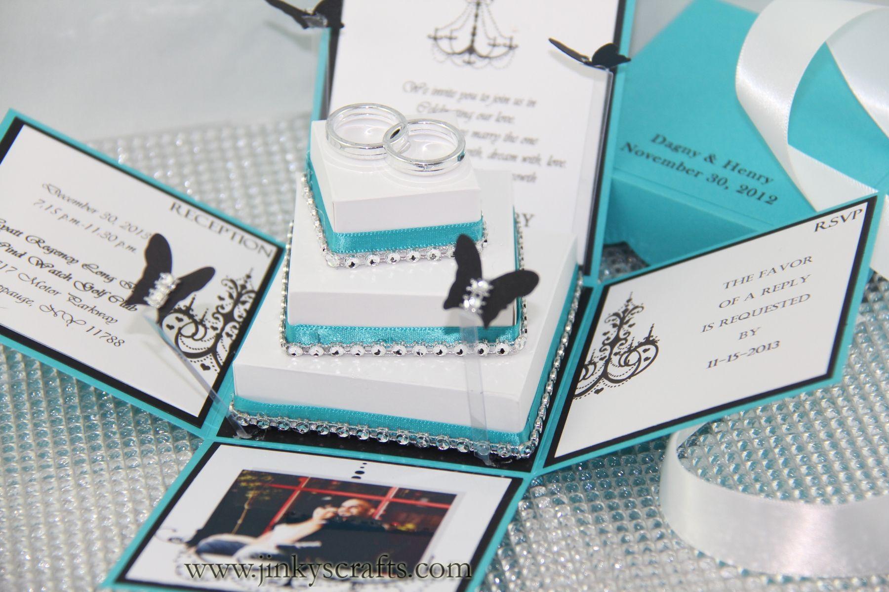 Dagny Exploding Box Wedding Invitation | Box invitations, Wedding ...
