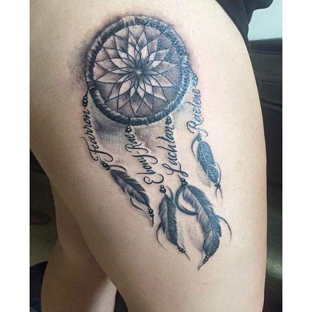 Native American Small Dreamcatcher Tattoo |Native American Dreamcatcher Tattoo