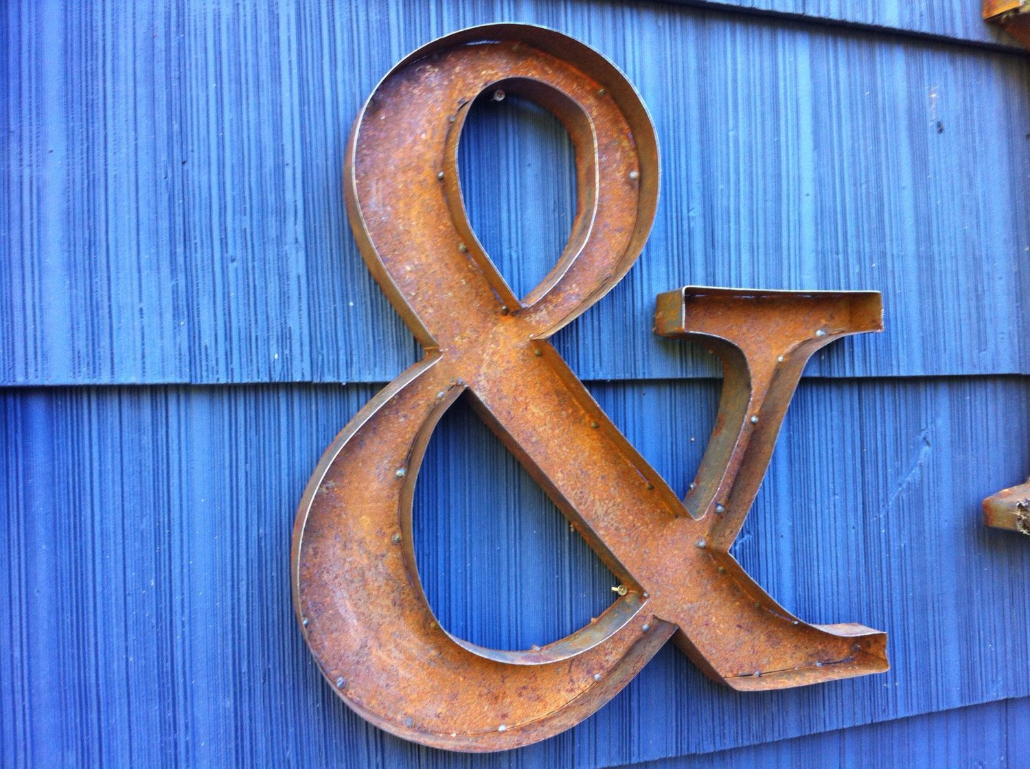 "Metal Outdoor Letters And Numbers Enchanting 24"" Rustic Metal Letters & Numbers  Metals Symbols And Metal Letters Design Ideas"