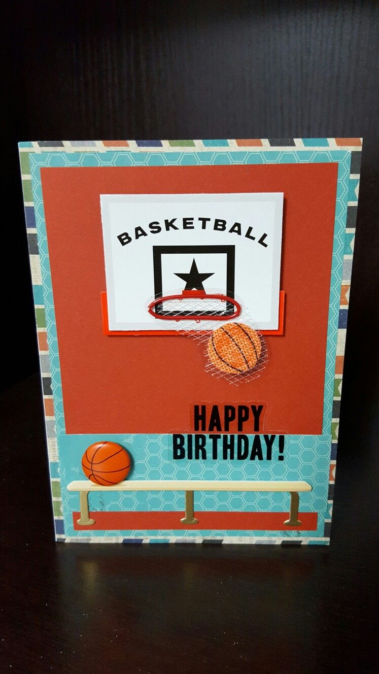 How to scrapbook birthday cards - Basketball Birthday Cards