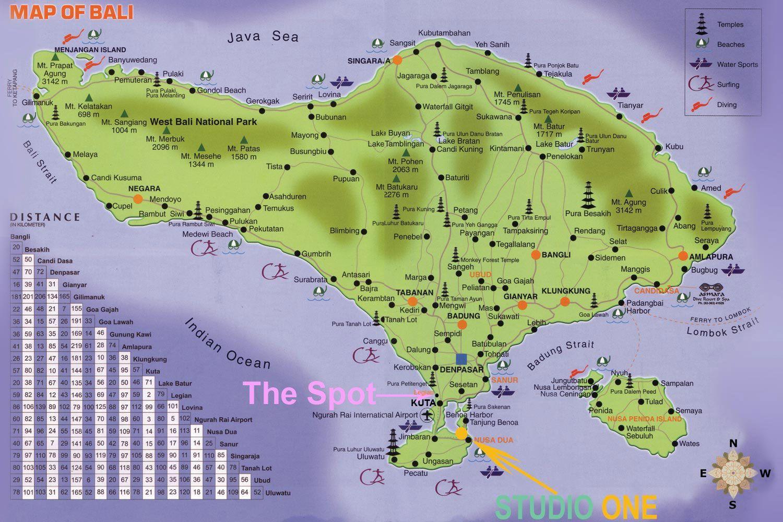 Carte Bali Legian.Bali Street Map Bali Google Map Bali Hotels Map Bali Surf