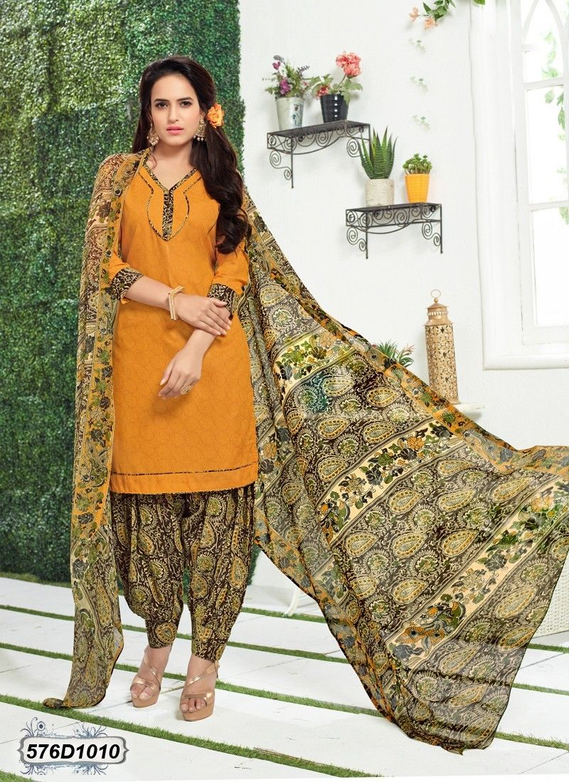 177f80cbd7 Buy Auspicious Yellow Colored Poly Cotton Patiala Salwar Suit Get 30% Off  on Navratri Special Collection From Leemboodi Fashion with Free Shipping in  INDIA ...