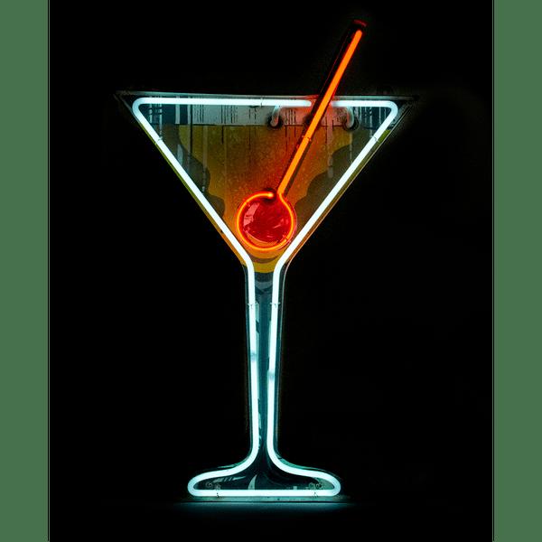 Original 1950s Martini Cocktail Neon Bar Sign Peekaboo Gallery Neon Bar Signs Bar Signs Vintage Neon Signs