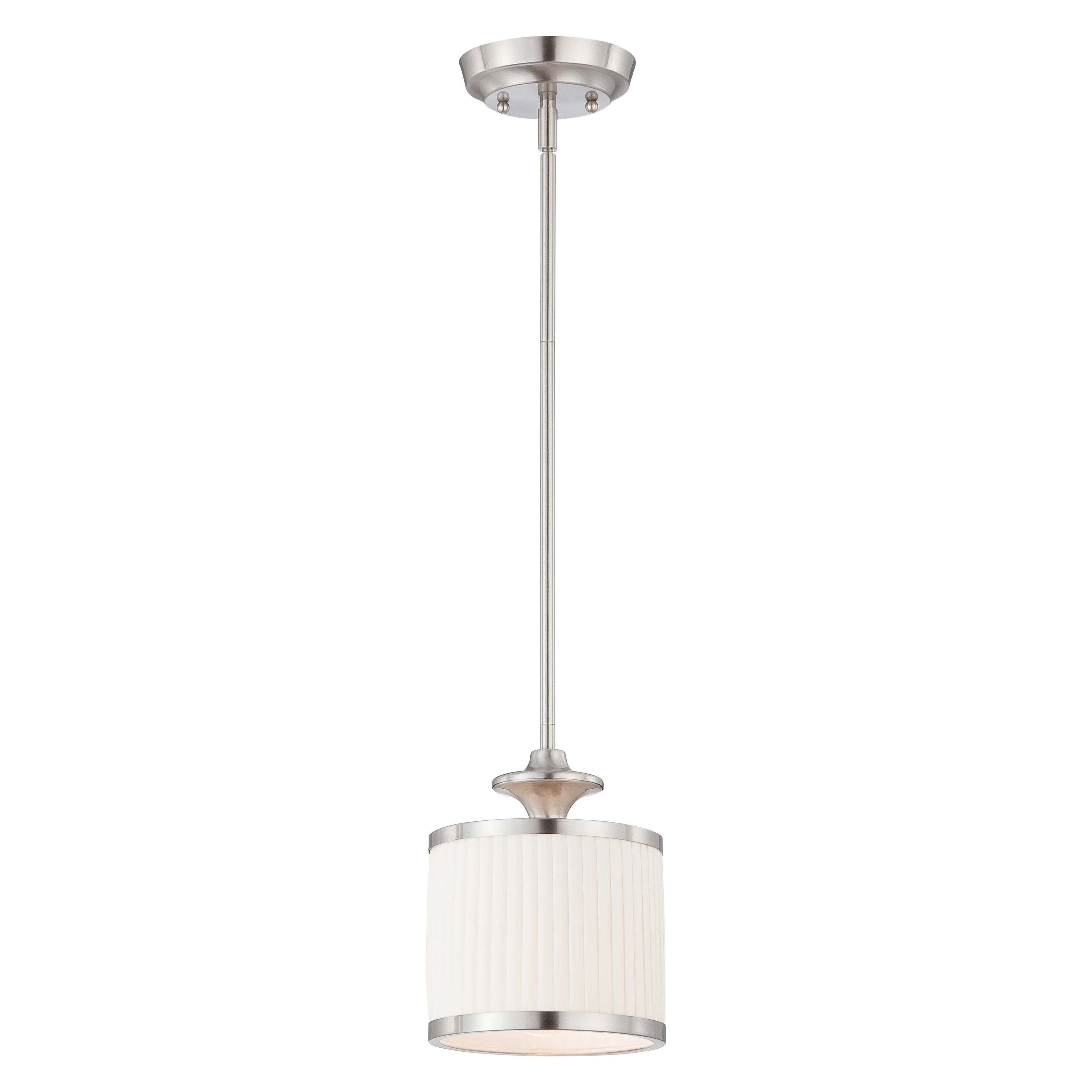Nuvo candice light mini pendant w in brushed nickel