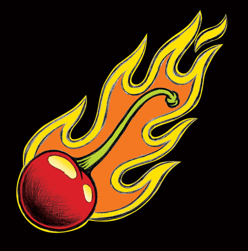 flaming internet flaming cherry