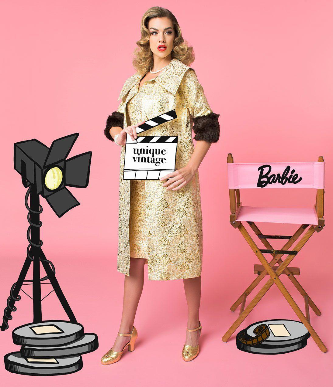 54e0793e4af Barbie x Unique Vintage Evening Splendour Brocade Coat in 2019 ...