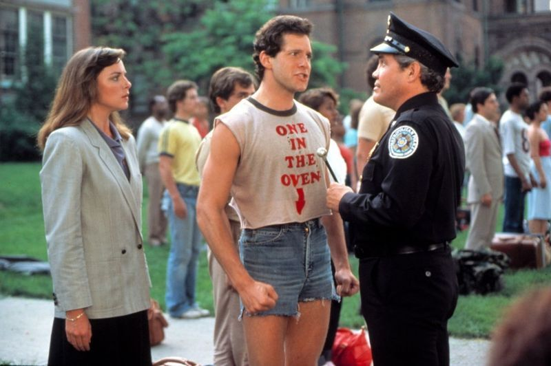Kim Cattrall and GW Bailey in police academy