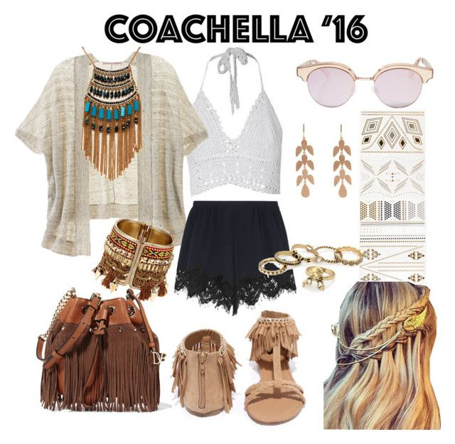 """Coachella"" by jade-r1714 ❤ liked on Polyvore featuring Victoria's Secret, Qupid, Le Specs, Leslie Danzis, Irene Neuwirth, Diane Von Furstenberg and Chloé"