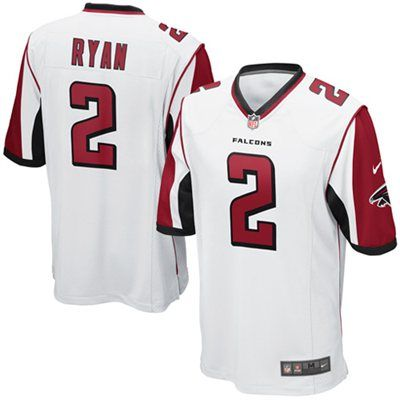 nike matt ryan atlanta falcons game jersey white atlanta falcons rh pinterest com