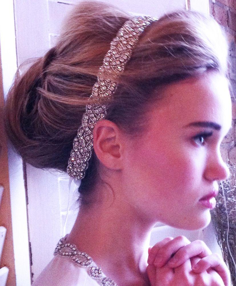 Lujoso Fajas De Diamantes De Imitación Para Vestidos De Novia Motivo ...