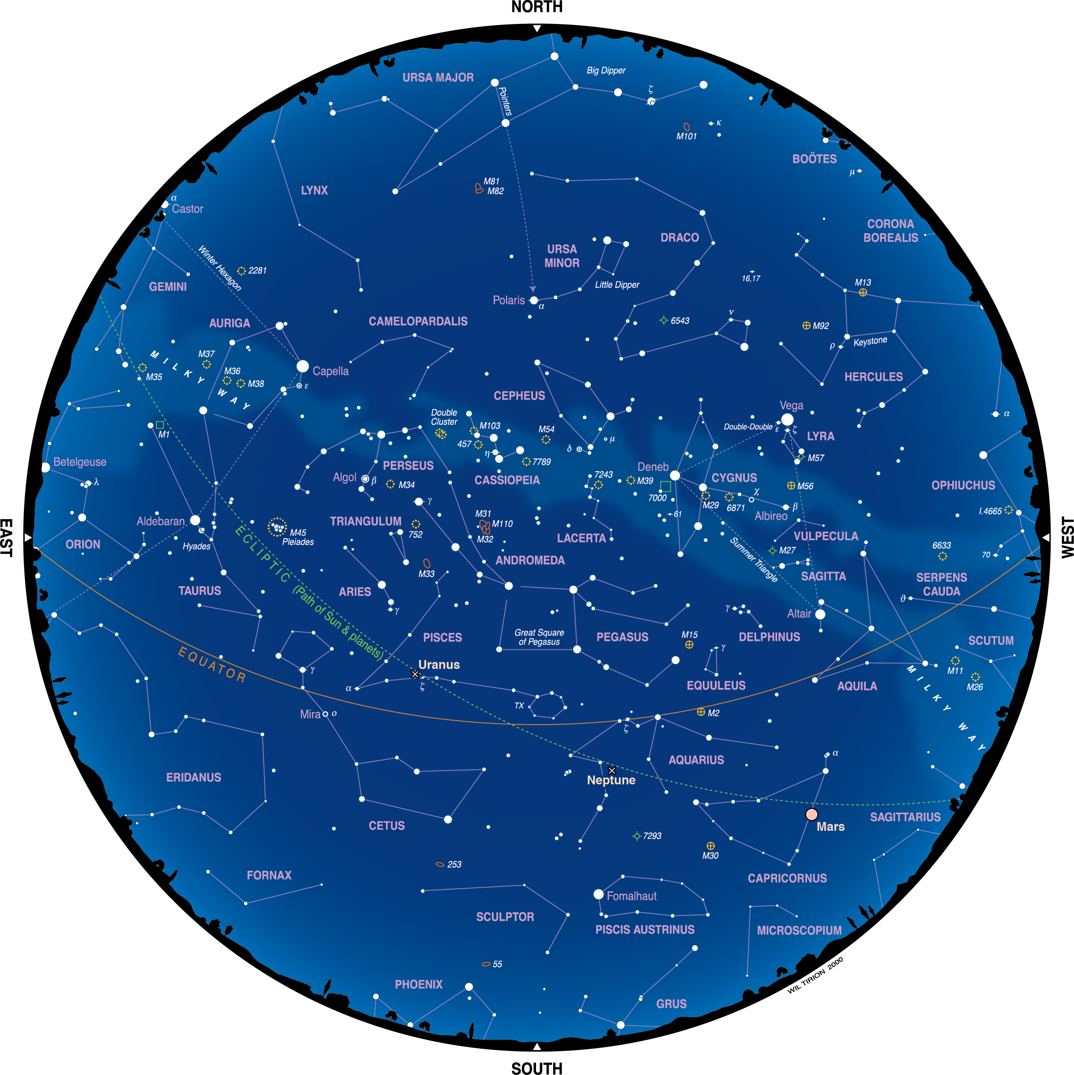 Star Chart for November2016 (monthly Star Charts) (With ...