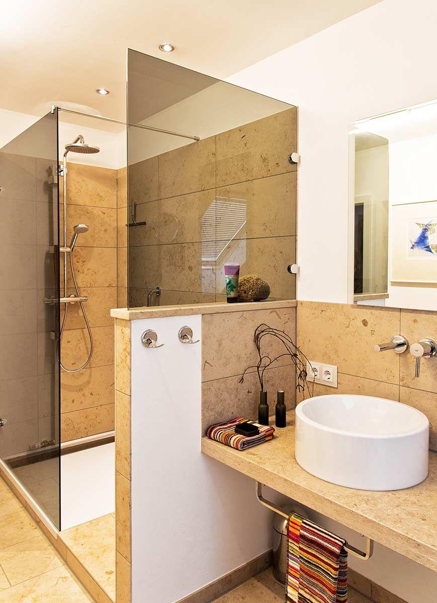 Heimwohl Badezimmer Badezimmer Gemauerte Dusche Dusche