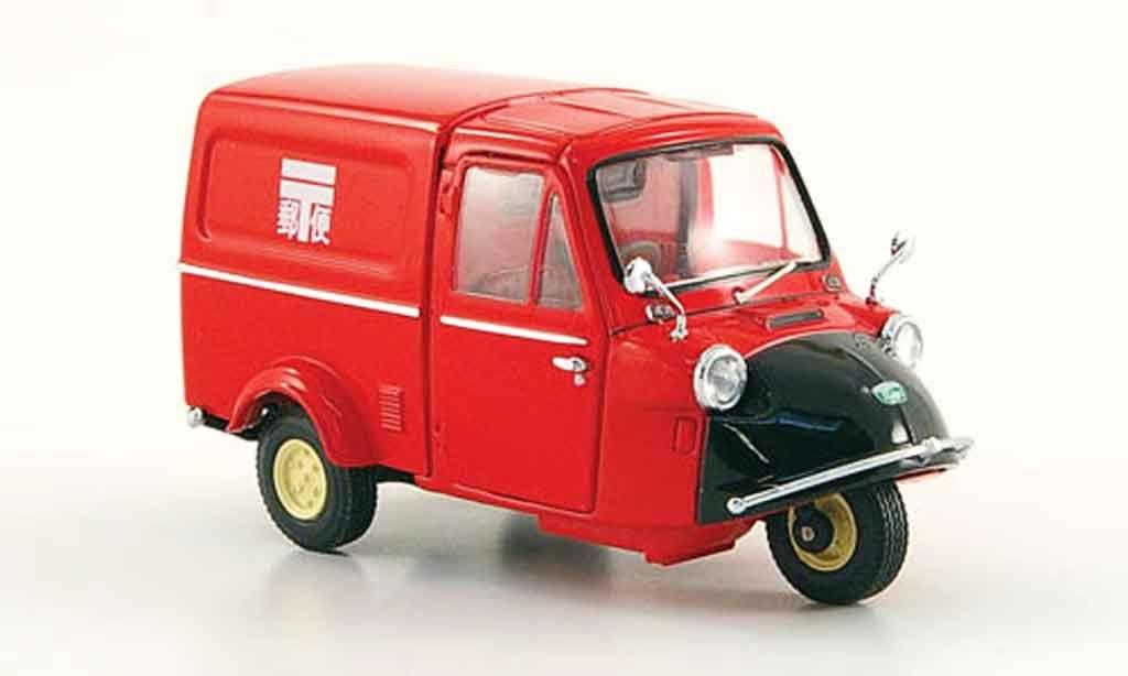Daihatsu Midget Kasten Post Red Black 1961 Ebbro Diecast Model Car