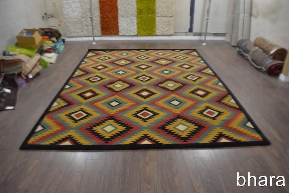 11 X8 Room Size Southwest Style Thick Pile Soft Wool Sana Fee Gold Area Rug This Abstract Room Size Rug Is Closing In Few Days Rugs Area Rugs Southwest Style