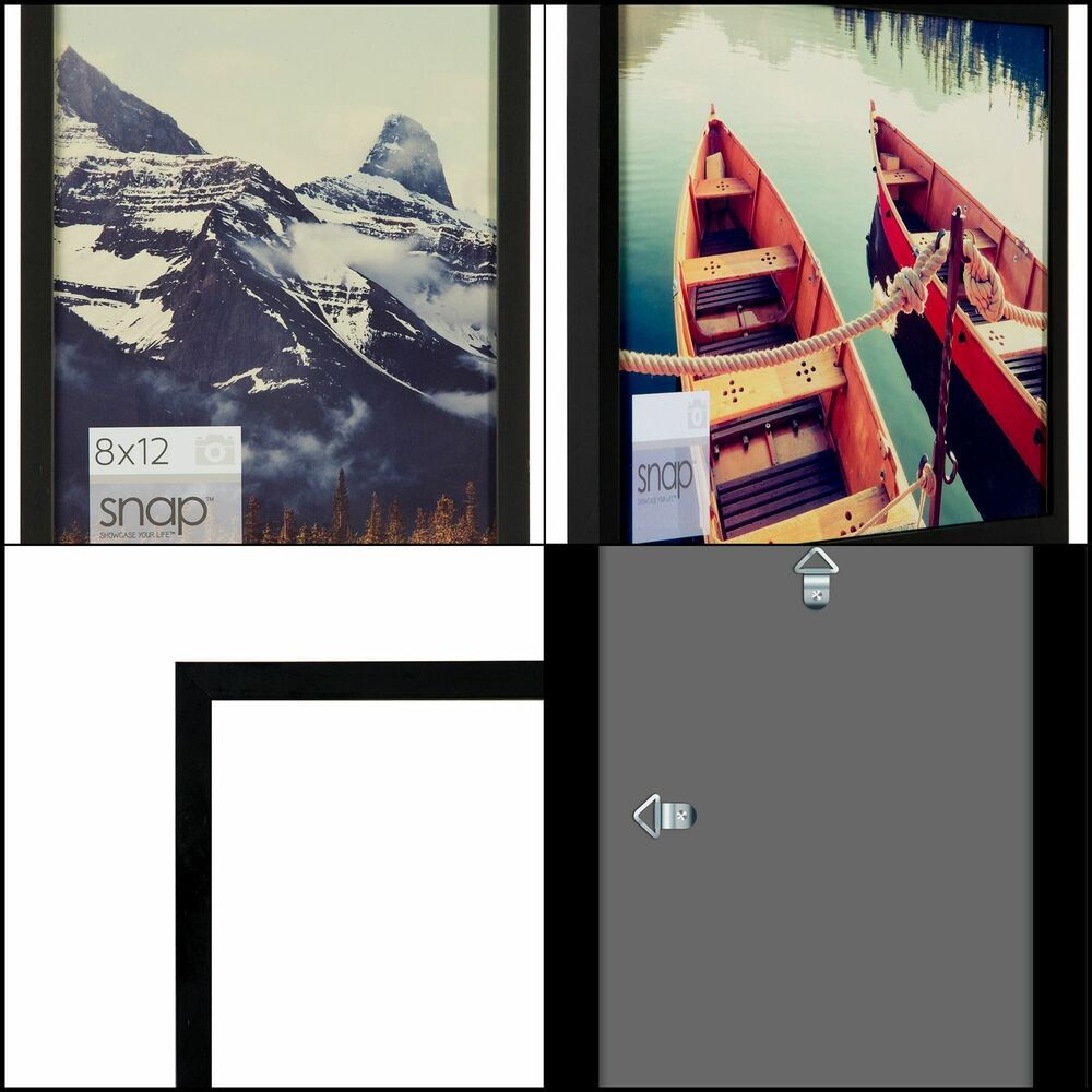 Black Wood Wall Digital Photo Frame Wall Mount Hang Display For Home Decor New Fashion Home Garden Homedco Photo Frame Wall Frames On Wall Wood Photo Frame