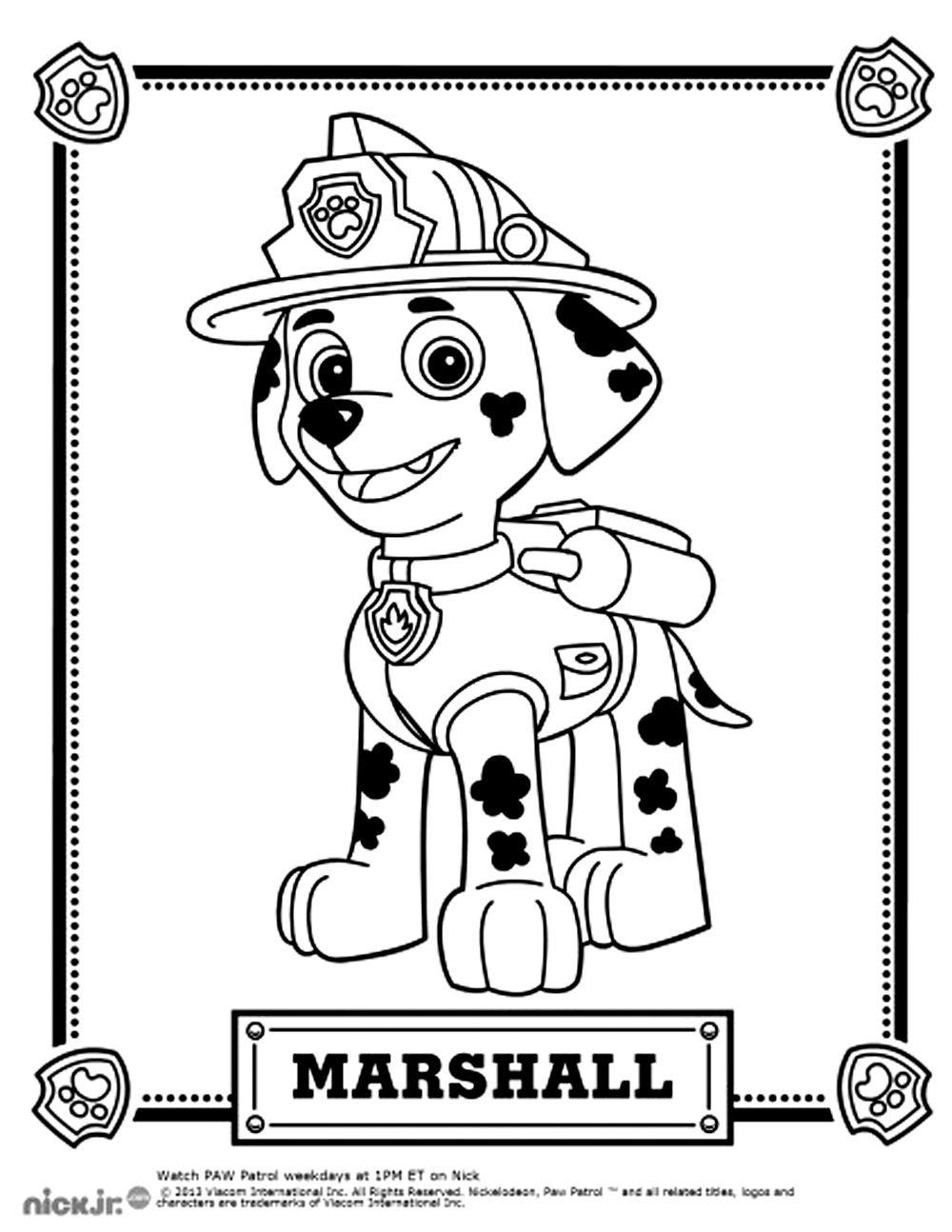 pour imprimer ce coloriage gratuit coloriage pat patrouille marshall cliquez coloriage dessin animcoloriage - Pat Patrouille Dessin Anim
