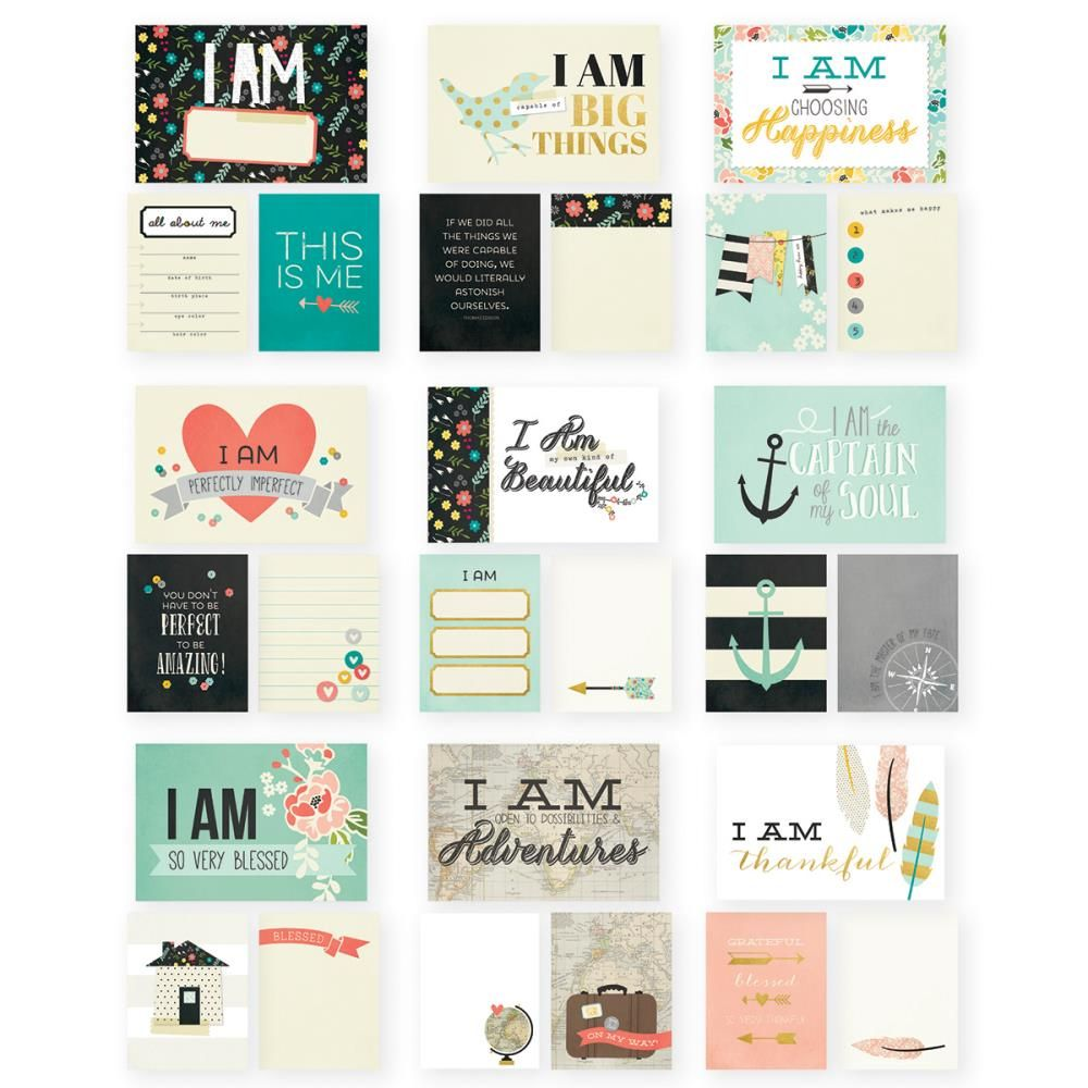 """Craftie-Charlie: Simple Stories I AM 4""""x6"""""""