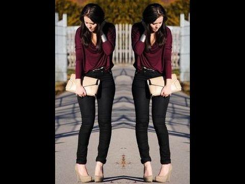 6f6a5786e Todas las tendencias Cómo combinar un pantalón color vino - YouTube ...