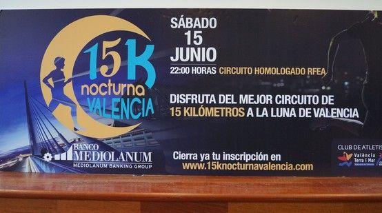 Cartel de la 15kNocturna de Valencia