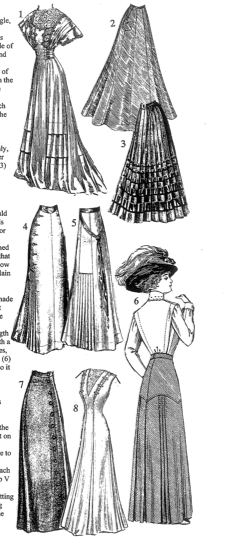 Skirts  Reference Book of Women's Vintage Clothing: 1900-1909