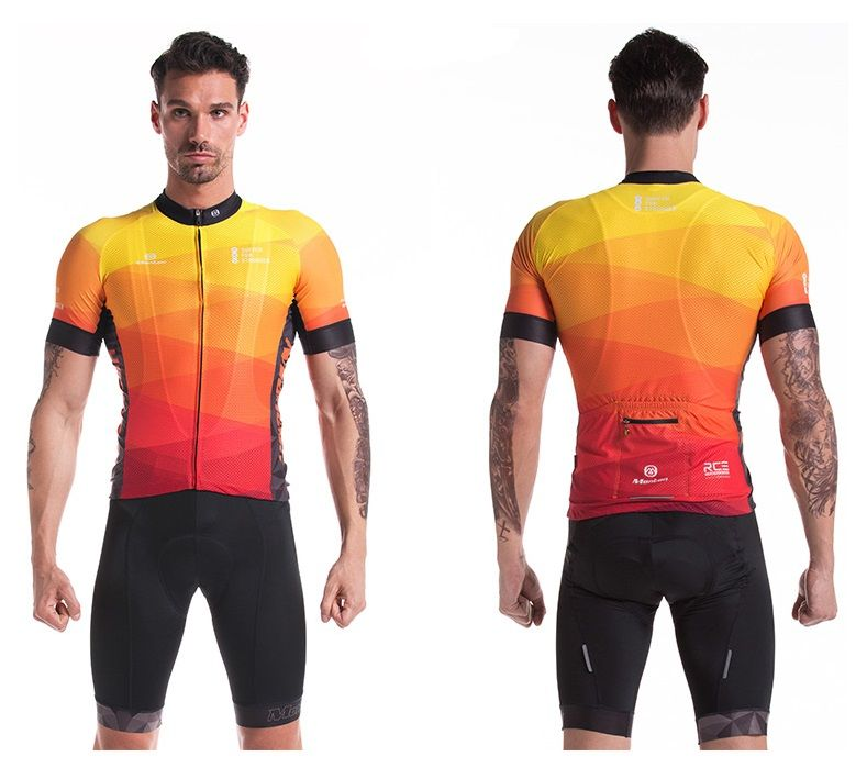 Monton 2016 Mens Best Cycling Jersey Flaming Cycling Outfit