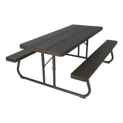 Lifetime 6 Ft Wood Grain Folding Picnic Table 60105 Folding Picnic Table Portable Picnic Table Picnic Table