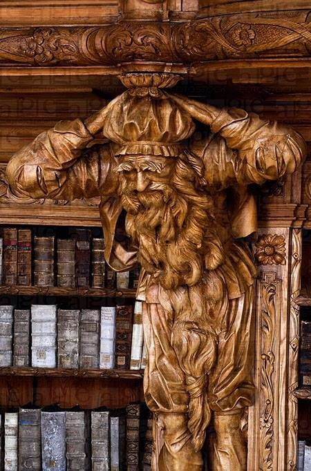 Library in the Monastery of Waldsassen, Bavaria, Germany Ph by H&D Zielske