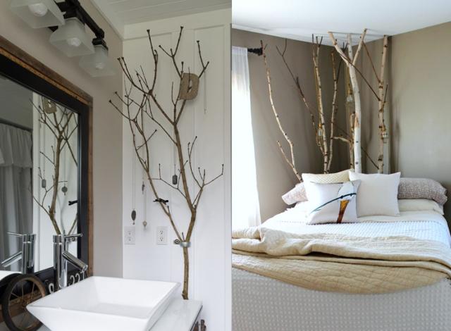 20 inspirations pour mettre un arbre dans la maison. Black Bedroom Furniture Sets. Home Design Ideas