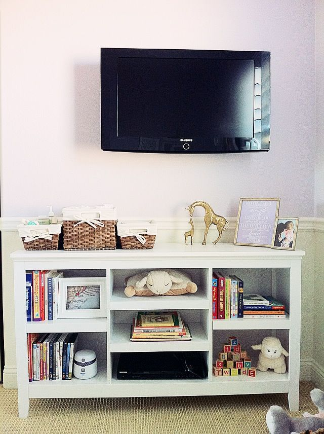 Target 'Carson' bookcase as entertainment center. I don't need a TV console but since this matches the Target bookshelves I'll hold onto it.