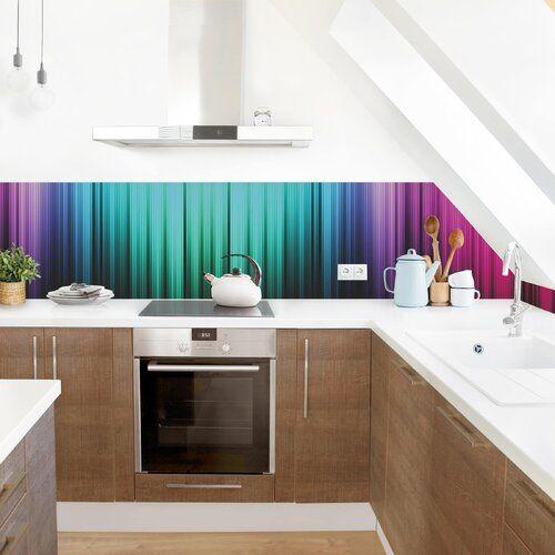 Photo of PVC Spritzschutzpaneel Selbstklebend Atoll Ebern Designs Größe: 50 cm x 300 cm, Material: Premium